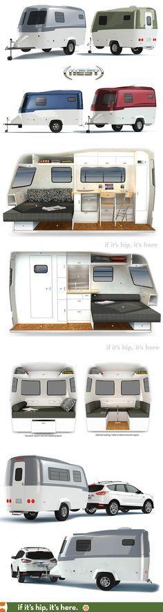 The new NEST caravan / trailer is good design for the great outdoors. The new NEST caravan / trailer is good design for the great outdoors. Tiny Camper, Small Campers, Camper Caravan, Cool Campers, Rv Campers, Tiny Trailers, Small Trailer, Vintage Trailers, Camper Trailers