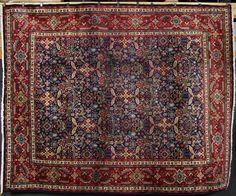 Persian Tabriz carpet, 10' x 14'.