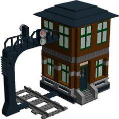 Barrett's Signal Tower: A LEGO® creation by Murdoch 17 : MOCpages.com