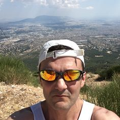 Running Mount Parnitha. View of Athens is breathtaking from this altitude!
