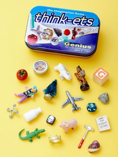 "Making Games Badge - Think-ets - make your own! - for those long waiting moments. (Along with the pouch comes rules for a few games, such as ""I'll take one away, and you tell me which one is missing"", or ""Make a story about the item you're holding"") Activities For Kids, Crafts For Kids, Travel Activities, Activity Ideas, Altoids Tins, Make Your Own, How To Make, Busy Bags, Travel With Kids"