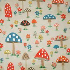 Mushroom Oilcloth | View All | CathKidston