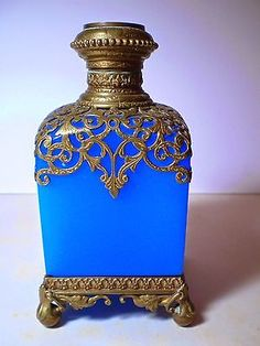 Antique-Opaline-French-Perfume-Bottle