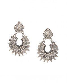 Silver Crescent Drop Earrings - Silvermerc - Designers