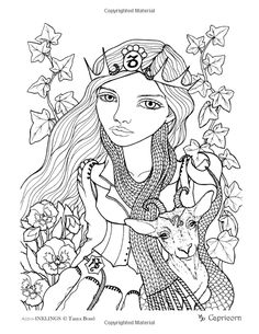 Adult Colouring Pages Blank Coloring Sheets Books Astrology Signs Line Art Zodiac Color Inspiration