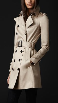 COTTON SATEEN TRENCH COAT  PRICE  $1,995.00  Item 44546961