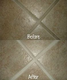 Before and after when clean tile grout with Magic Eraser on Stain Removal 101 Deep Cleaning Tips, House Cleaning Tips, Cleaning Solutions, Homemade Toilet Cleaner, Cleaners Homemade, Bathroom Cleaning Hacks, Toilet Cleaning, Cleaning Diy, Cleaning Recipes