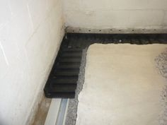 No Water  interior subfloor basement waterproofing installation & No Water