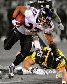 Ray Rice Baltimore Ravens NFL Action Photo