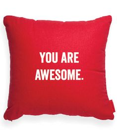 """""""""""You Are Awesome"""""""" Decorative Throw Pillow"""