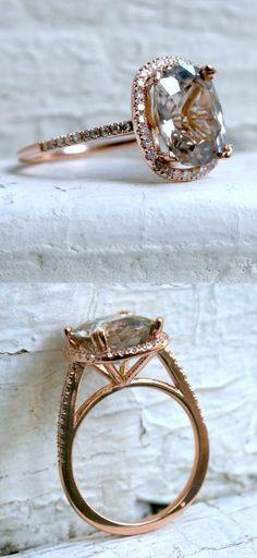 beautiful halo pave diamond ring