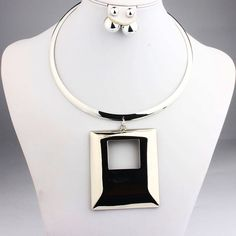 Gold Silver Plated Collar Chokers African Necklaces Earrings - Afro-trends-worldwide.com
