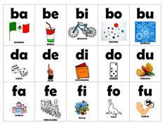 FREE - silabas iniciales flashcards in color