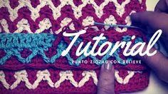 Tutorial #139: Cómo tejer punto zigzag con relieve   CTejidas [Crochet y Dos Agujas]