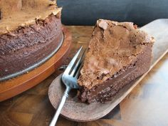 This flourless chocolate souffle cake is so creamy-chocolatey, it's practically a mousse in cake form.