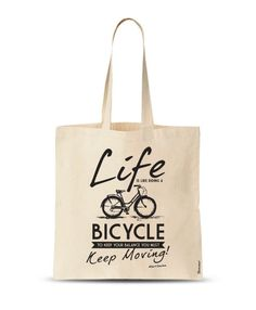 Life is Like a Bicycle Tote Bag Funny Tote Bag Funny by store365 Custom Tote  Bags 9bc40d395f998