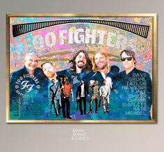 Foo Fighters, Watercolor digital poster.Foo Fighter's'  amnd Dave Grohl Realistic Watercolor Prints. Music Painting Room Decor Musical Gift