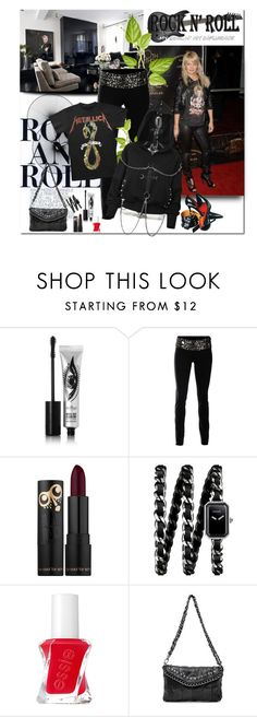 """""""Rocker Chic"""" by sharoncrotty ❤ liked on Polyvore featuring Eyeko, Larok, Chanel, Essie and rockerchic"""