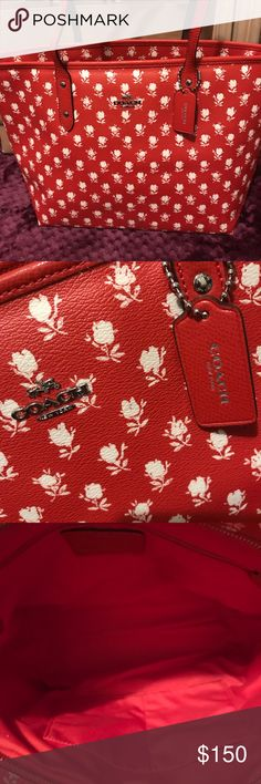 Authentic Coach tote 👜! Excellent brand new with tag still attached! Price is firm!🌺 Coach Bags Totes