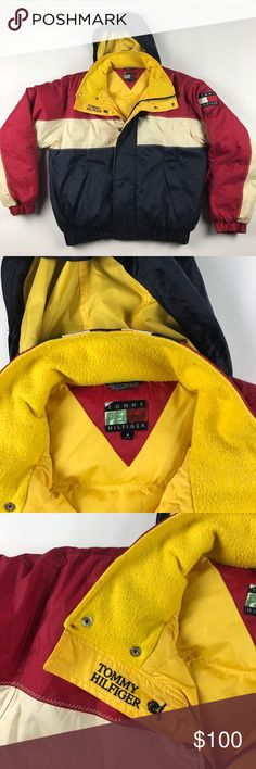 Vtg Small Tommy Hilfiger Big Logo Puffer Jacket Couple of marks on the back Tommy Hilfiger Jackets & Coats Puffers