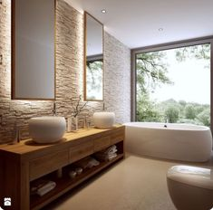 Loooove this bathroom. What a stunning wall texture
