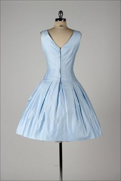 vintage 1950s dress . TEENA PAIGE . dead stock . light blue