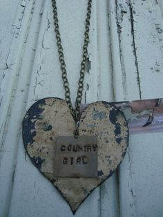 Country Girl heart necklace