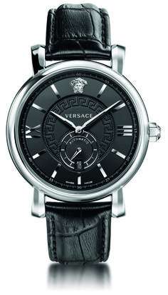 Urban Gent represents the fair elegance of the contemporary gentleman. The XL size two tone steel case has a sculpted form with faceted lugs. #Versace #VersaceWatches