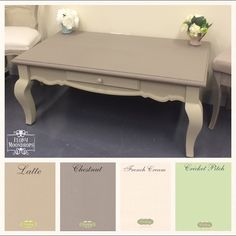 Everlong Superior Finish Paint • Chestnut & Latte • french country style coffee table in two tone