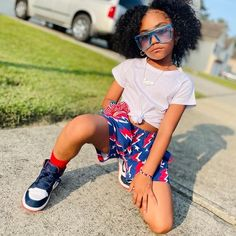 Cute Girl Outfits, Dance Outfits, Happy4th Of July, Indoor Cycling Bike, Beautiful Black Babies, School Outfits, Superstar, Cute Girls, Shorts