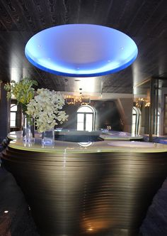 Kaspia Restaurant at the Four Seasons Hotel Baku, Azerbaijan designed by ReardonSmith Architects, interior by Richmond International