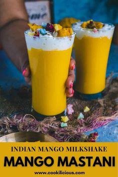 Drink Recipes Nonalcoholic, Yummy Drinks, Mango Milkshake, Mango Pulp, Mixed Nuts, Food Festival, Non Alcoholic, Party Drinks, Good Food