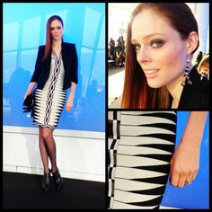 This is my day 2 of NYFW look. It's all about the Herve Leger dress.