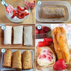 Strawberry Cheesecake Chimichangas ~ Recipe of today