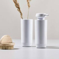 Buy Zone Denmark Suii Soap Dispenser Slim Now at Dotmaison. Quality designer homewares & Free UK delivery over Japanese Minimalism, Soap Dispensers, Bathroom Collections, Toilet Brush, Danish Design, Denmark, Taupe, Dish, Black White