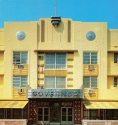 Art Deco Architecture ~ Governor Hotel ~ Miami Beach, FL