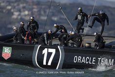 ORACLE TEAM USA sailors train in the San Francisco Bay - February 2013.