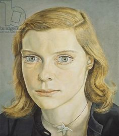 Lucian Freud 'Girl with Starfish Necklace' 1952 Oil on Panel Lucian Freud Paintings, Lucian Freud Portraits, Female Portrait, Portrait Art, Modern Artists, Famous Artists, British Artists, Face Art, Contemporary Paintings
