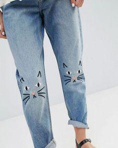 Broder un motif sur un jean / embroidery