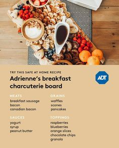 Charcuterie Board Meats, Charcuterie Plate, Sausage Breakfast, Breakfast Recipes, Peanut Butter Slice, Pancakes And Bacon, Blueberry Syrup, Canadian Bacon, Pampered Chef