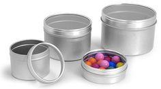 Metal Tins, Metal Tins with Clear View Tops  http://www.sks-bottle.com/340c/fin7c.html