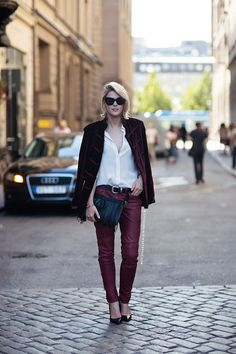 SOFIE VALKIERS: burgundy is the new black