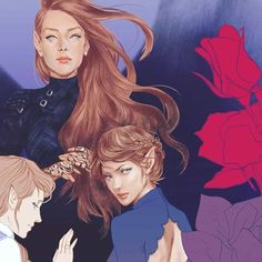 Feyre, Nesta, Elain oh i'm actually in love with this! Just that Elain is almost left out of the picture