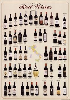 Unknown - Italian Red Wines - art prints and posters