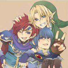 Super Smash Bros. - Roy, Link, and Marth