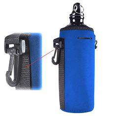 Water Bottle Sleeve YAMAY Neoprene Insulated Water Bottle Cooler Bag Insulator Holder Carrier Cover with Drawstring Clip Hook for Backpack *** Check out this great product.Note:It is affiliate link to Amazon.