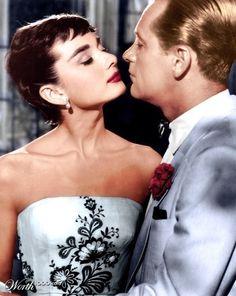Audrey Hepburn & William Holden in Sabrina.