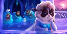 "Grumpy Cat Ruins ""Frozen,"" ""Little Mermaid,"" Other Disney Classics: ART @NewNowNext"