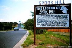Spook Hill can be found in Lake Wales Florida.  Have you ever coasted UP hill and labored going DOWN hill.  HERE we can!