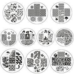 BornPretty 10 Pcs BP12-20&BP74 Nail Art Stamping Plate Stamp Template Image Plates Born Pretty http://www.amazon.com/dp/B011NRJS88/ref=cm_sw_r_pi_dp_O1U7wb125ZPM5